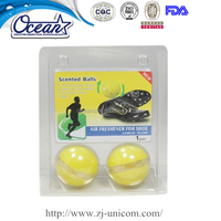 car perfume shoes air freshener with round shape
