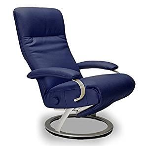 Marvelous Buy Kiri Recliner Cobalt Blue Leather Swivel Recliner Lafer Lamtechconsult Wood Chair Design Ideas Lamtechconsultcom