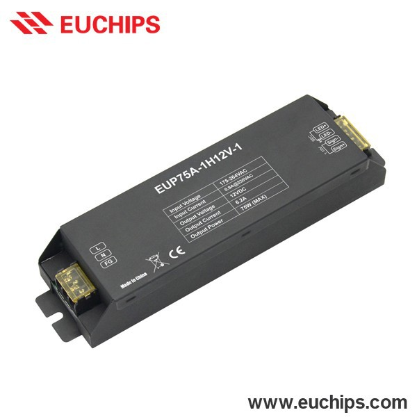 Chinese Manufacture Cheap 75W 1-10V Single Channel Dimmable Constant Voltage LED Driver 12V