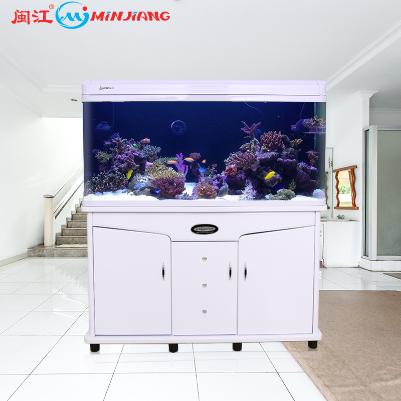 Minjiang professional aquarium <strong>fish</strong> tank clear glass with cabinet