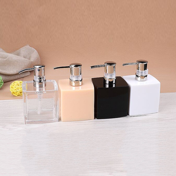 Wholesale Rectangle Hand sanitizer Black&White 250ml Resin shampoo Liquid Soap Dispenser Bottles for Hotel Bathroom