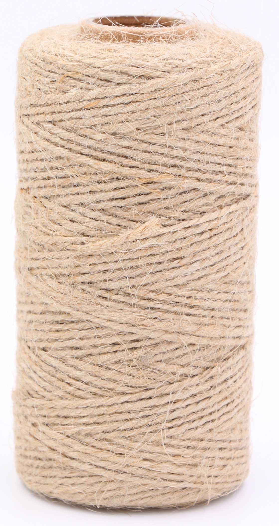 Natural Jute Twine-LeBeila Natural Hemp Cord Jute Twine String, 2ply Industrial Packing Materials Durable Twine String For Gardening, Arts Crafts, Gift, Christmas (328 feet, natural)