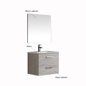 Waterproof Apartment 12 Inch Deep Bathroom Vanity