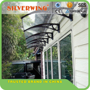 Customized Clear Window / Door Canopy Polycarbonate Awning Panels Light  Weight