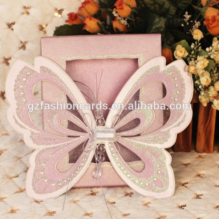 mariposa nuevo pop up de invitacin de boda de la tarjeta