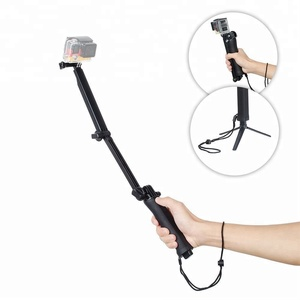 3 in 1 3-Way Selfie Stick Adjustable Pole Grip Handle Camera Mount Tripod use for action camera