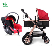 Wholesale Infant baby stroller double twins / EN 1888 approved 3 in 1 baby stroller to Malaysia / new models baby pushchair 2017