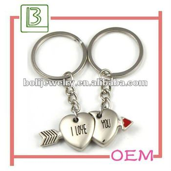I love u couple keychain lover heartarrow keyring with wedding i love u couple keychain lover heartarrow keyring with wedding gift promotion product in guangdong china negle Image collections