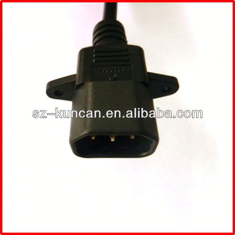 iec c14 to angled c13 power cord IEC60320 AC plug