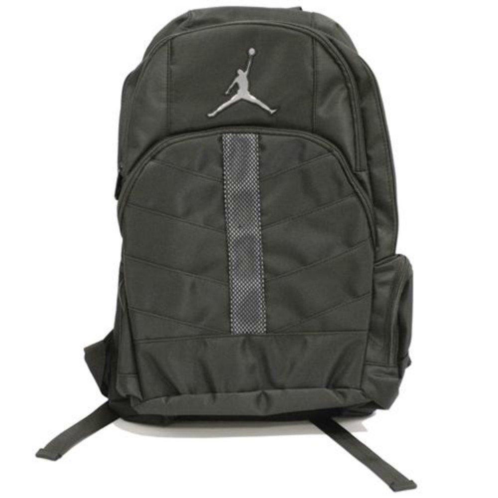 8f198ad041d0 Get Quotations · Nike Jordan Jumpman 23 Boys Black Mesh Overlay Backpack  with Gray Logo