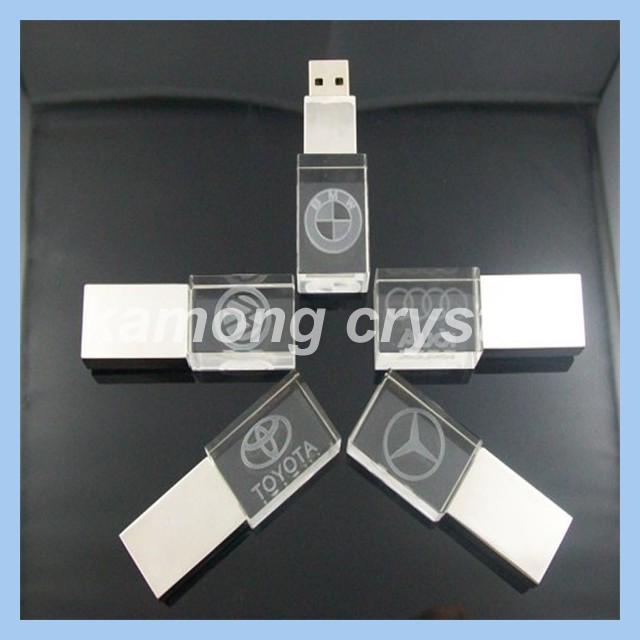 Cheapest promotiom crystal USB pen drive 2GB&8GB&16GB&32GB