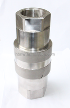 stainless steel hydraulic quick disconnect coupling iso16028