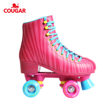 Reliable reputation cougar brand smooth wheels quad skates roller boots