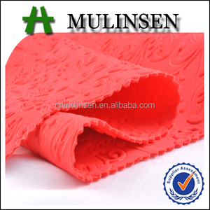 Mulinsen Textile Hot Sell New Product Knit Polyester Scuba Different Type of Embossed 3D Fabric