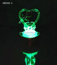 Beautiful led glass gift for wedding decoration
