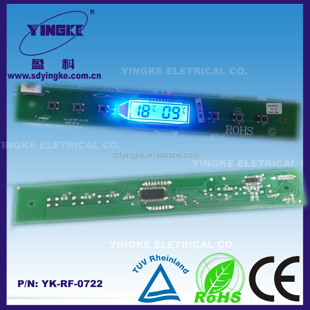 refrigerator LCD display with blue backlight OEM and ODM pcba service