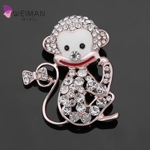 Korean style Big Mouth Monkey Brooch Cute Little Animal Brooches for Fashion Women Jewelry