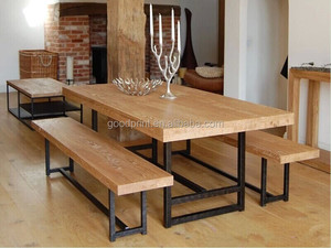 Chinese antique reclaimed oak wood natural dining table