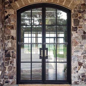 австралийский стандарт с двойным остеклением наружные железные французские двери с закаленным изоляционным двойным стеклом Buy железные французские