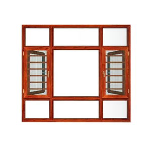 Aluminum Casement Window Aluminum Awning Window with Grill Design