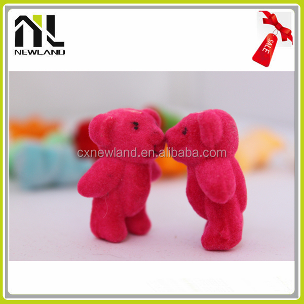 Factory New Lovely Flocking Miniature Animal plastic animal toy farm