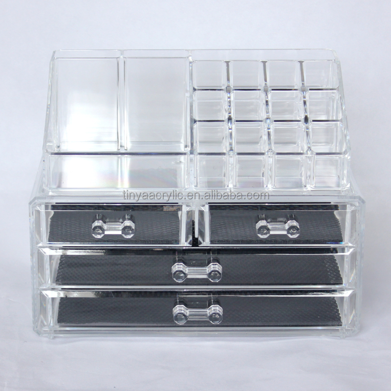 Amazon Online Shopping 3 Tier 4 Drawers Makeup Drawers Case Plastic