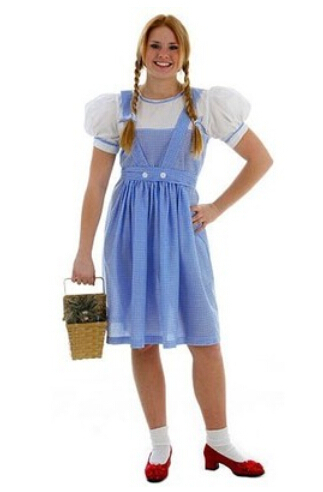 5269c4038f4cd Get Quotations · Rubie s Costume Wizard Of Oz Adult Dorothy Cotton Bow  Sweet Lolita Dress Maid Cosplay Lolita Dress