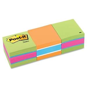 "3M Commercial Office Supply Div. Post-It Note Cube,400 Sheets Per Cube,2""X2"",3/Pk,Neon Stripe - 3M Commercial Office Supply Div. Post-It Note Cube,400 Sheets Per Cube,2""X2"",3/Pk,Neon Stripeconvenient"