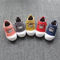 FC1839 Autumn korean soft bottom non-slip children canvas shoes