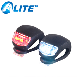 Colorful Mountain Bike Bicycle Front & Tail Night Light LED Silicone Light
