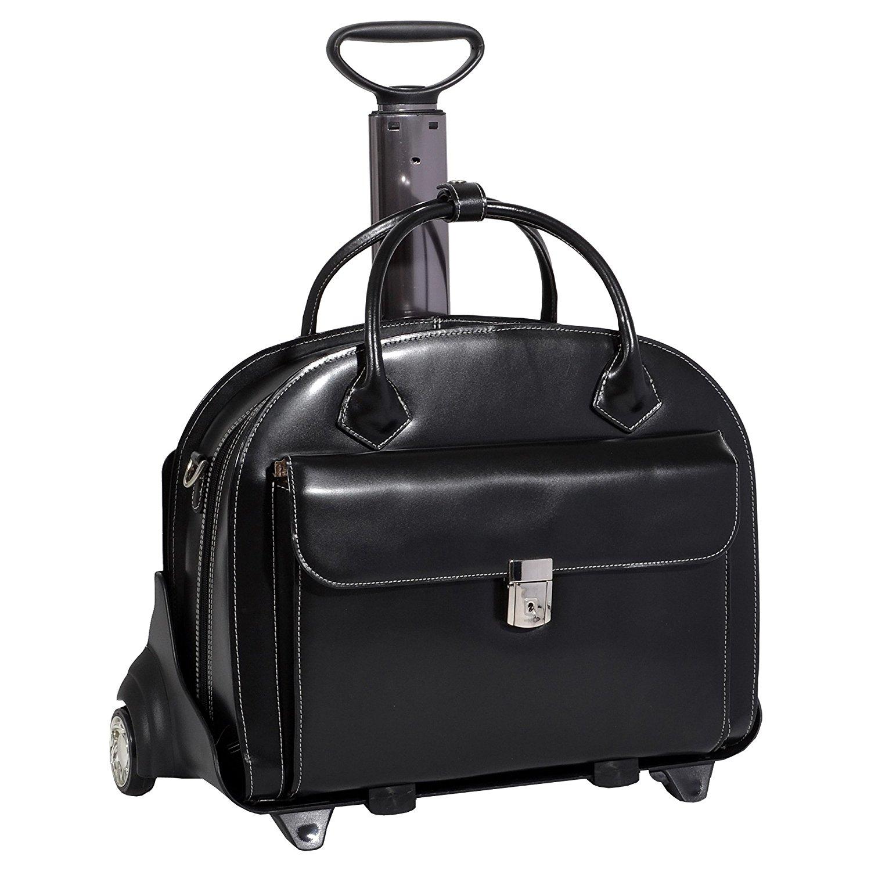 Black AMARO briefcase on wheels,wheeling briefcase,wheeled briefcase
