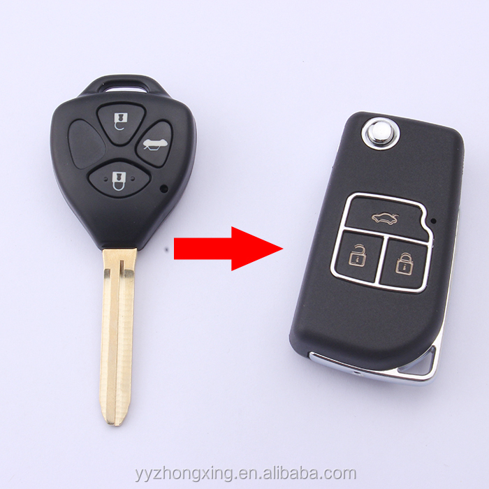 Accessories Alarm Accessories Egal Car Keys Shell for Toyota TOY43 Car Remote Keys Shell Automobile Keys Shell Durable Auto Parts