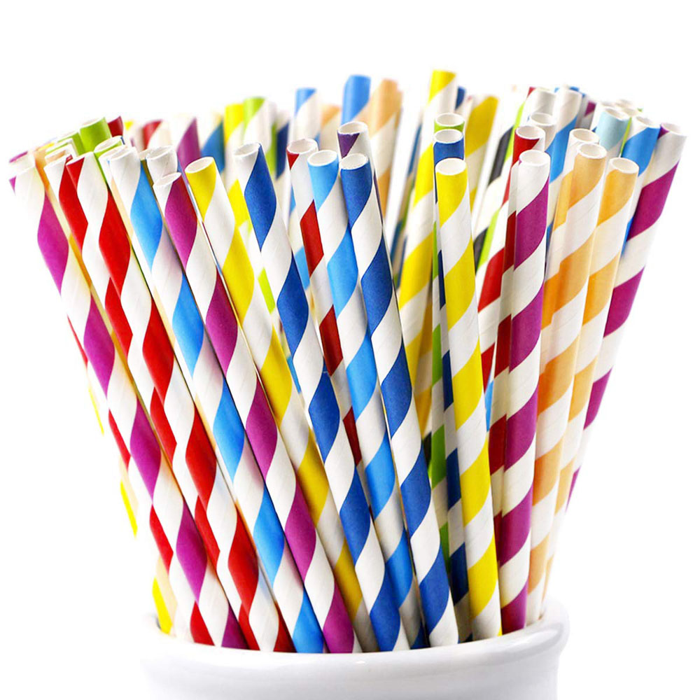 Amazon Hot Sale Cheap Polka Dot FDA Eco Party Thick Floral Wholesale Disposable Drinking Kraft Diodegradable Paper Straw фото