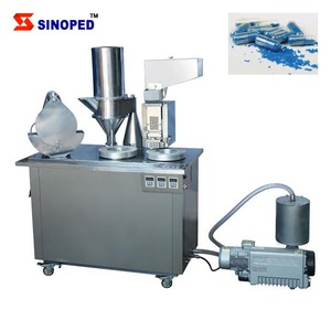 SINOPED Semi automatic hard gelatin capsule filling machine for 00#