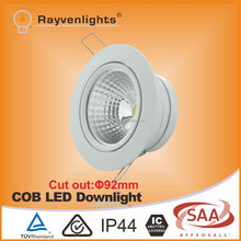 Narrow beam angle 30 degree led spot downlight 5w dimmable White/Chrome Finish