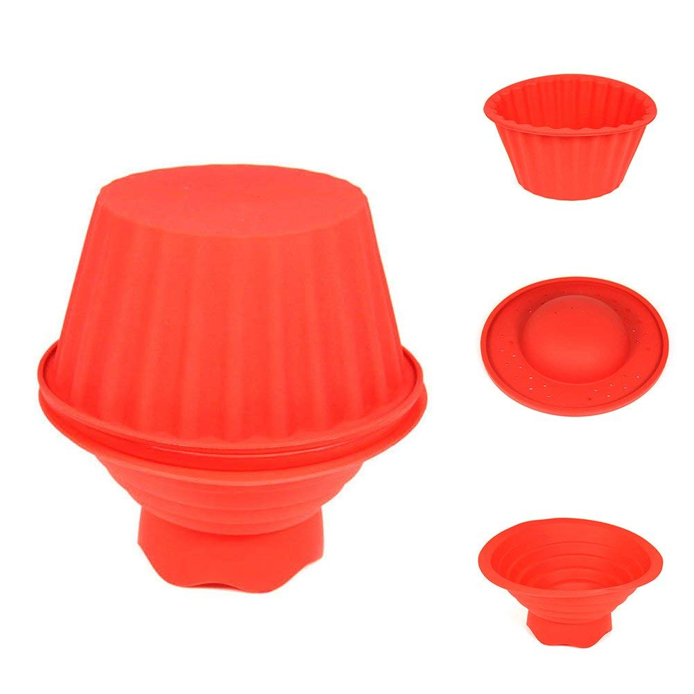 Cake Baking Molds,3pcs Non-stick Silicone Bakeware Set Apply on Cakes, Breads, Ice Cream,Chocolates, Heat Resistant Silicone Cake Mold for Summer Day Camps, Classroom Baking Crafts