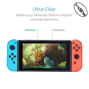 HUYSHE Hot Selling Protective Film for Nintendo Switch anti-scratch tempered glass screen protector