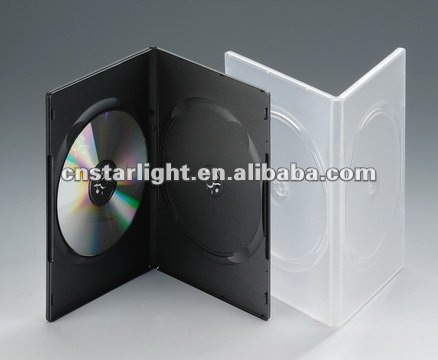 Double Black DVD Case 9 mm DVD case PP DVD Case