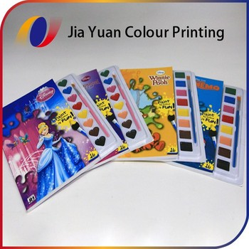 Cover Full Color Printed Paint Books For Kids With Colour Water ...