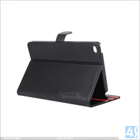 Smooth surface pu leather pc stand wallet case flip cover for ipad mini 4 3 2