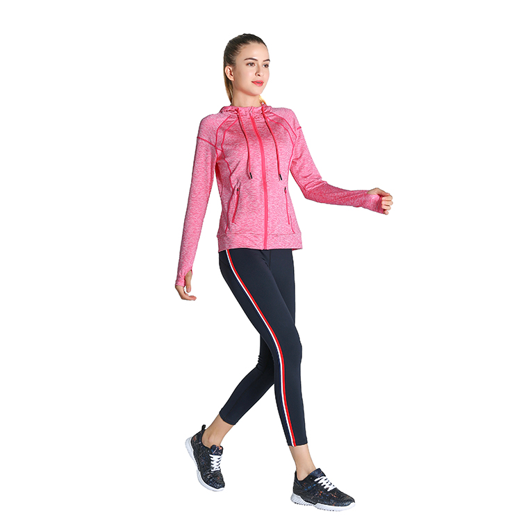Purple Gray Pink Drawstring Wholesale Running Jacket Thin Womens Yoga Hoodies Sweatshirts Training Jogging Wear with Thumb Holes