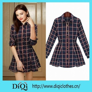 Factory Price Pleated Shirt Long Sleeve Model Simple