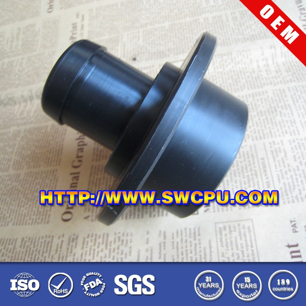 Custom nylon shoulder reducing plastic pipe connection