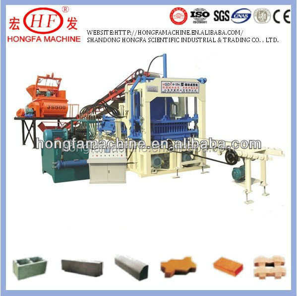 QT4-15C hydraulic and electric driven block machine cement pavement block making machinery with unbeatable quality