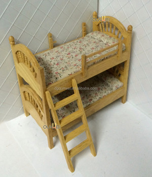 dollhouse furniture 1 12 scale. Plain Dollhouse 112 Scale Dollhouse Miniature Furniture Wooden Doubledeck Beds With Wood  Ladder QW60492 For 1 12 U