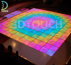 Night club disco bar led dance floor light tiles mat for sale