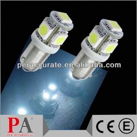 Pinball led 5 SMD Car Bulbs Map Dome Parking 5050 12V 24V License Plate Light new led lamp Ba9s Bax9s