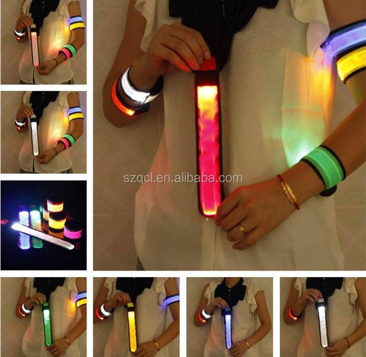 Sequin Slap Bracelet LED Sparking Slap Wristband