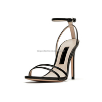 Women's Ankle Strap Dress High Heel Sandals Stilettos 10.5 cm Open Toe Heeled Sandal For Wedding Party Evening Business Shoes