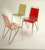 Modern Colorful Stackable Acrylic Clear Acrylic Dining Chair with Chromed Metal N Base